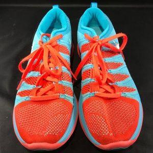 73e3d5a7782d ... best price nike shoes nike flyknit lunar 2 light blue red 8.5 40 eur  94b57 fe418